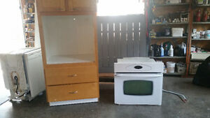 Maytag wall oven and cabinet
