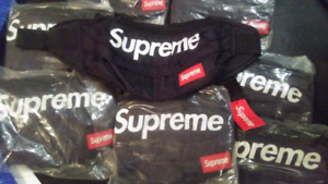 Black Supreme fanny packs $35