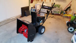 "Yard Machines 208cc 22"" Two Stage Snow Blower LIKE NEW"