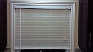 Window Covers - White Faux Wood Blinds