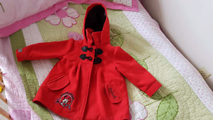New. Fall baby coat size 2 T Mickey mouse
