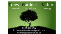 Tree care, garden maintenance, landscaping, habitat restoration