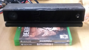 Xbox one kinect & 2 xbox one games.