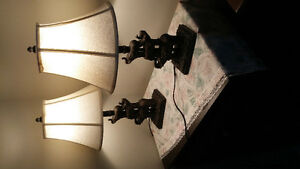 Pair of.Lamps.with.Éléphants.on them.$35.Pair.