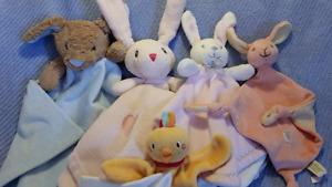 Baby EASTER BUNNY (miYim)/CHICK (Sucre d'orge) Security Blanket