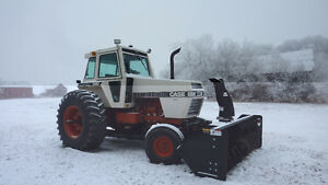 1983 CASE 2290 TRACTOR WITH FRONT MOUNT SNOWBLOWER