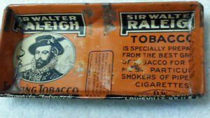 VINTAGE HANDCRAFTED TOBACCO TIN