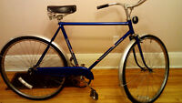 blue single speed cruiser