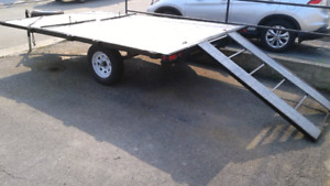 For sale 8x12 utility trailer can take two snow mobiles or two q