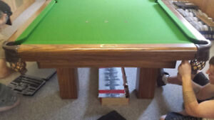 Dufferin pool table with all accessories 4 x 8