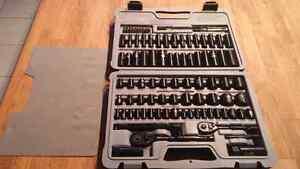 Stanley 99 Piece Socket Set - Black Chrome - New