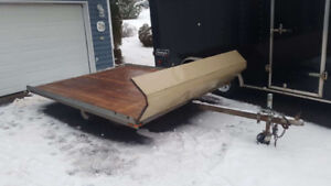 Tilt Deck Snowmobile Trailer