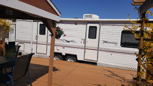 Beautiful 30 ft Travel Trailer with New Deck & Gazzabo