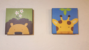Animal canvas great for daycare or nursery