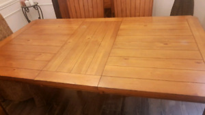 Solid wood table and 6 chairs - $350 (pd $800)