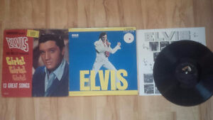 Lot 1:  3 Elvis Vinyl LP Records