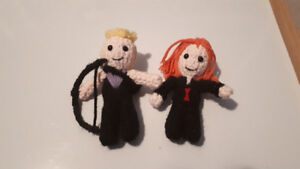Handmade Crochet Black Widow and Hawkeye Inspired Dolls