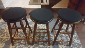 Solid wood swivel barstools from Stoney Creek Furniture
