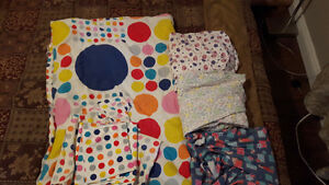 CRIB/TODDLER FITTED SHEETS/COMFORTER SET