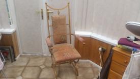 Iron work chair quite heavy
