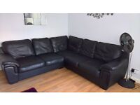 Black leather corner sofa can deliver