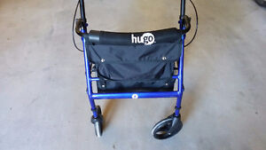 Wheeled Walker with Padded seat.