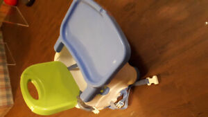 Child seat clip on chair highchair