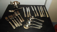 Silver Plated Silverware for Weddings Home Party Stampede Army