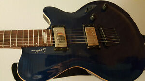 Godin LG Signature with blue maple flame top