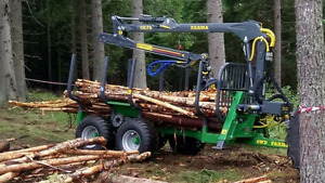 FARMA log loader and trailer