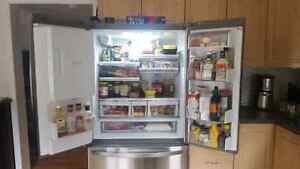 LG stainless steel french door refrigerator  Peterborough Peterborough Area image 3