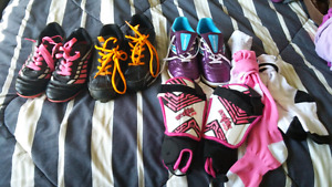 Baseball cleets and indoor soccer shoes $6 each