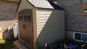 New Plastic Rubbermaid Garden Shed 8x8