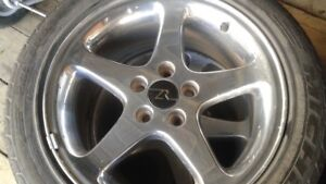 215 65 R17 Winter Tires Bridgestone Blizzak and Chrome Rims
