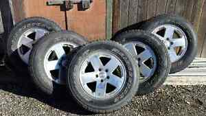 P255 / 70R18 Tires and Rims with TPMS Sensor