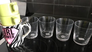 Variety of new and used glassware