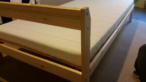 Twin Ikea Pine Bed