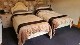 Pair of adjustamatic single beds