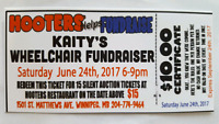 Kaitys Wheelchair fundraiser