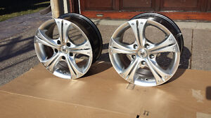 two 15 inch rims