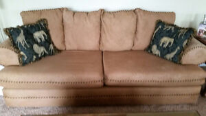 Sofa, love seat chaise, queen bed