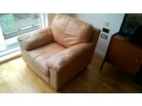 Free tan leather arm chair