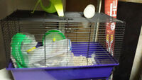 large and small hamster guinea pig rabbit cage with feeding wate