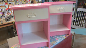 Matching Pair of Pink Night Stands