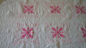 Beautiful, Hand-Sewn Quilt, Pink and White Kitchener / Waterloo Kitchener Area image 2