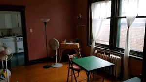 One bedroom of a spacious 4 1/2 unit for sublet May-August