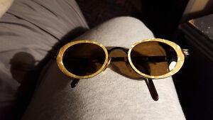 1990s Moschino Vintage AMBER TORTOISE SHELL Sunglasses