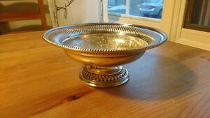 Silver Plate Reproduction Old Sheffield Compote Plate