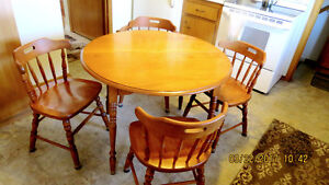 Maple Kitchen table and 4 Chairs