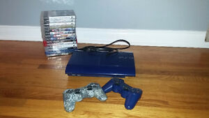 PS3 250GB slim + 2 controllers + 14 games